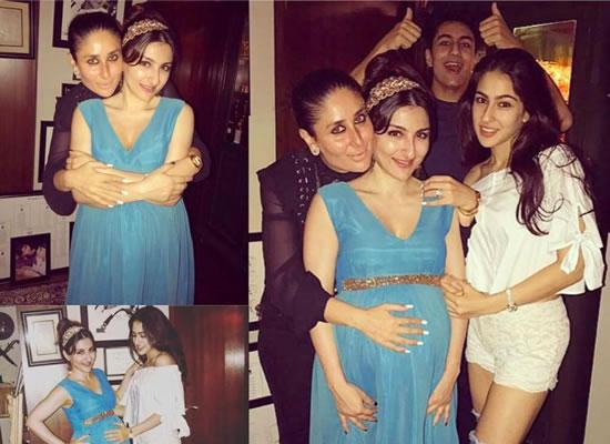 Kareena and mom-to-be Soha bond at the latter's baby shower!