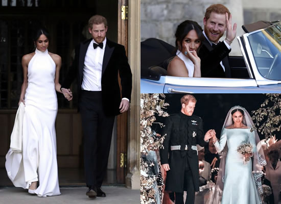 Newly married Prince Harry and Meghan Markle's fabulous wedding reception!