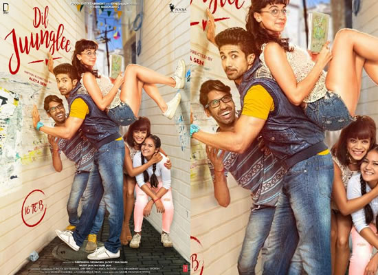 Taapsee Pannu and Saqib Saleem's quirky avatar in Dil Juunglee's first poster!