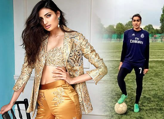 ATHIYA PLAYS FOOTIE!