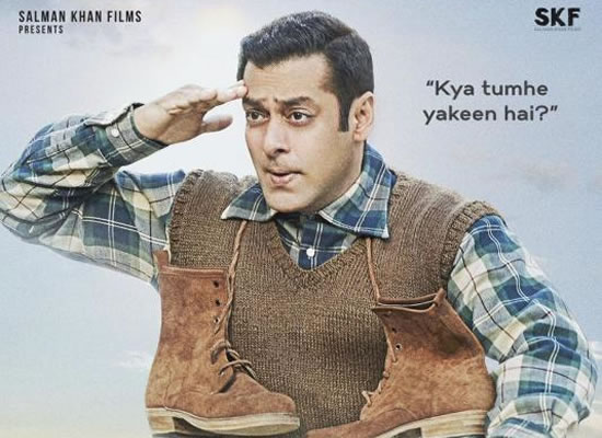 Salman Khan gives a salute in the new poster of Tubelight!