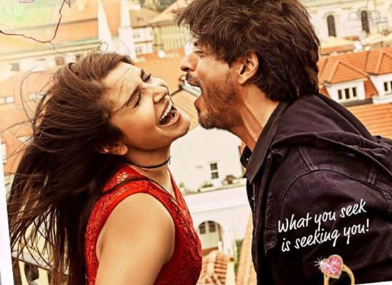 SRK and Anushka are screaming love in the new poster of Jab Harry Met Sejal!