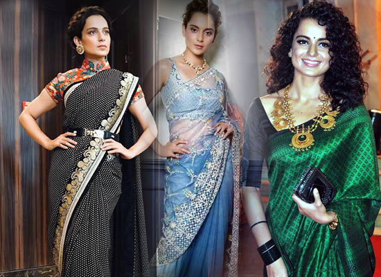 Sari is my go-to wedding outfit, says Kangana Ranaut!
