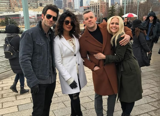 Priyanka's coziness with Quantico's star cast Russell Tovey, Johanna Braddy and Alan Powell!