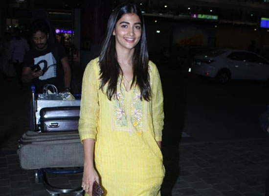 Pooja Hegde's ethnic avatar at the airport!