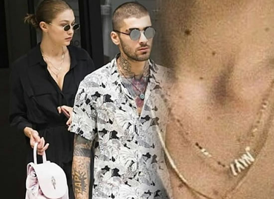 Gigi Hadid sports a curious necklace during an outing with Zayn Malik in New York!