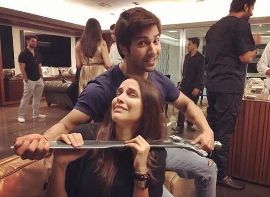 After Prabhas, Varun's next sword victim is Neha Dhupia!