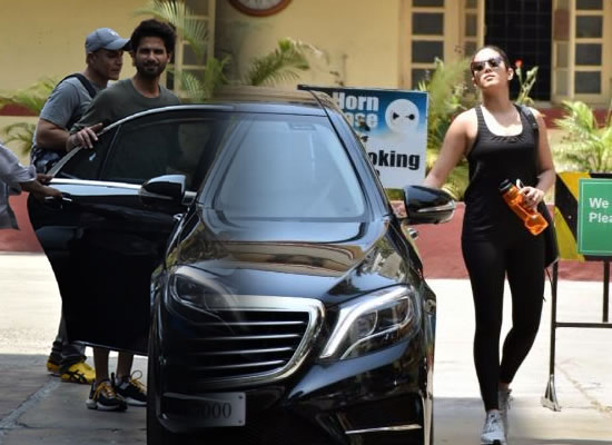 Shahid Kapoor and Mira Rajput hit the gym together!