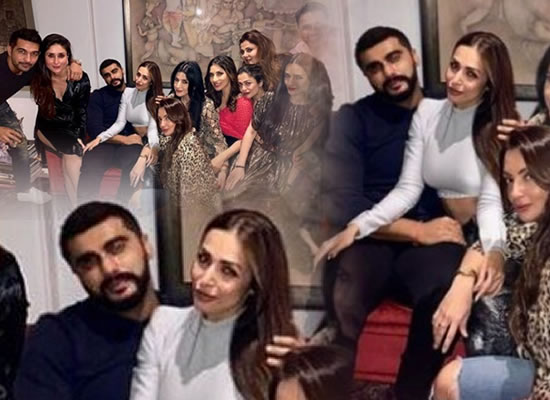 Arjun Kapoor and Malaika Arora's cosy moments during a party with close friends!