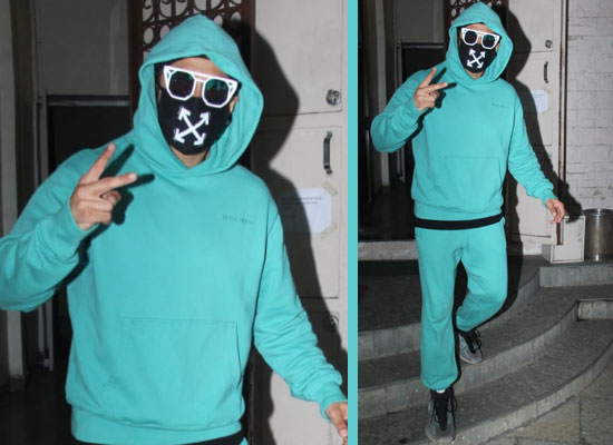 Ranveer Singh's stylish avatar in a neon tracksuit and trendy sunglasses!