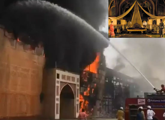 Karjat's ND Studio to catch massive fire, exact cause unclear!