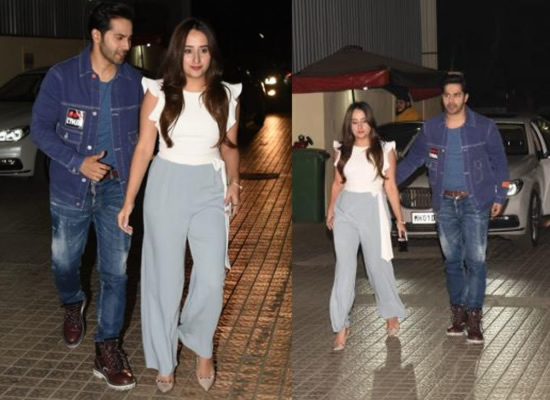 Lovebirds Varun Dhawan and Natasha to attend the screening of Street Dancer 3D!