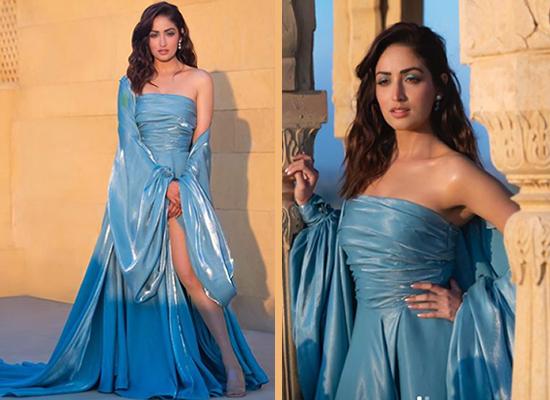 Yami Gautam's stylish avatar in icy blue gown!