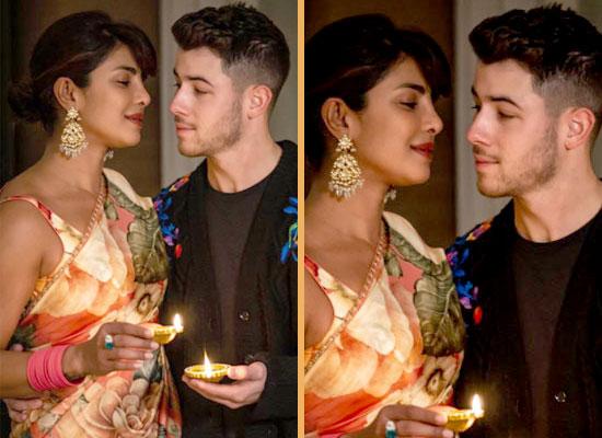 Priyanka Chopra and Nick Jonas celebrate Diwali together in London!