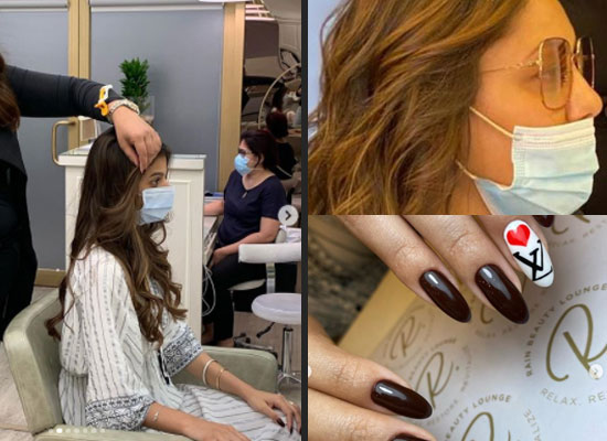 Gauri Khan and daughter Suhana Khan's salon session in Dubai!