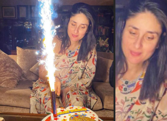 Kareena Kapoor Khan cuts a wonder woman themed birthday cake!