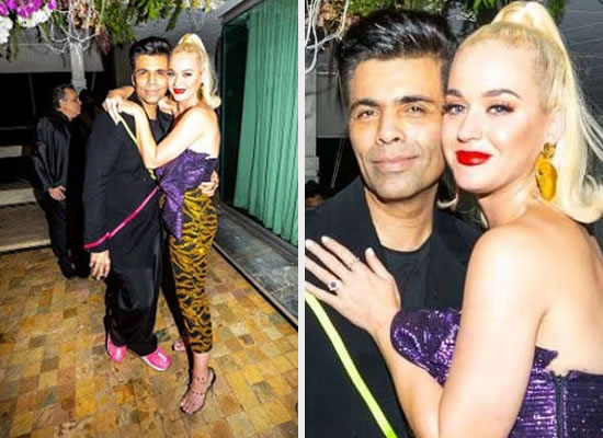 Katy Perry thanks filmmaker Karan Johar for warm welcome!