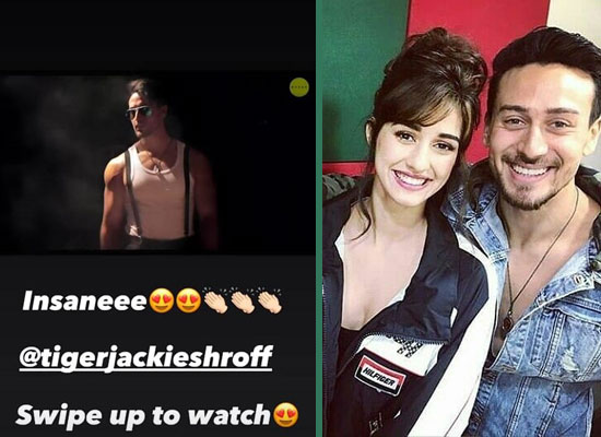 Disha Patani's admiration for Tiger's smooth moves in Unbelievable's dance video!