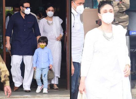 Kareena returns to Mumbai with family post Laal Singh Chaddha's shooting!