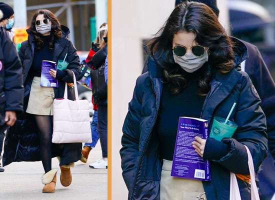 Selena Gomez's chic avatar in a mini skirt on the sets of Only Murders!