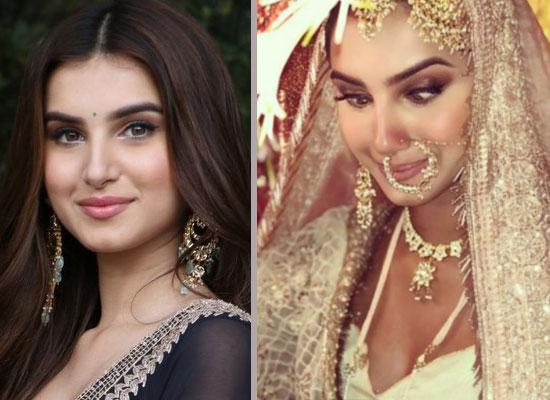 Tara Sutaria to share her goofy bridal look from Marjaavaan sets!